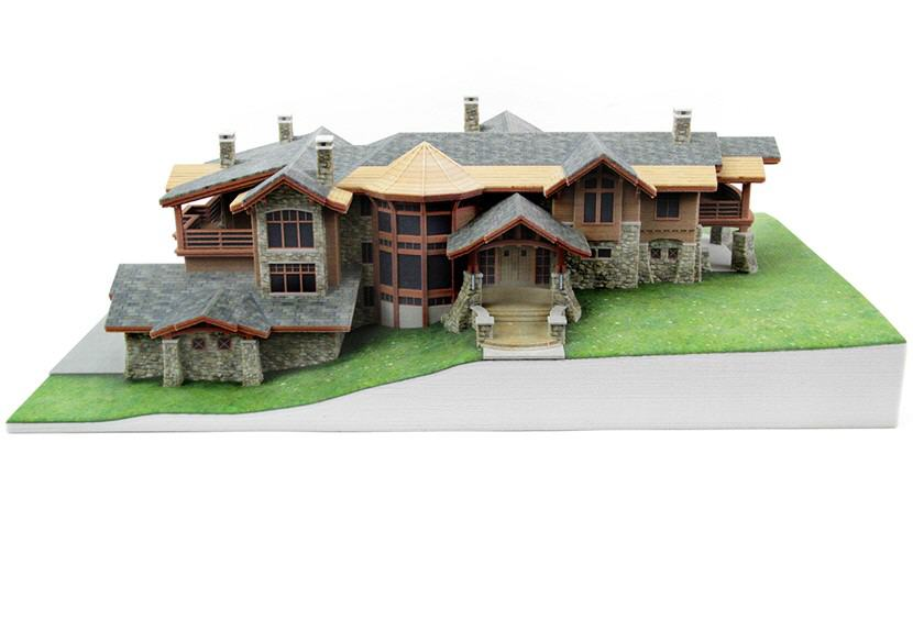 3D-Printed Mountain Home Architectural Model — whiteclouds 3D ...