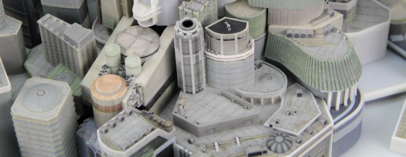 3D-Printed Futuristic City. Source: WhiteClouds