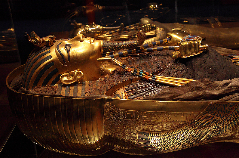 King Tut's sarcophagus. Source: http://www.kingtut.org/