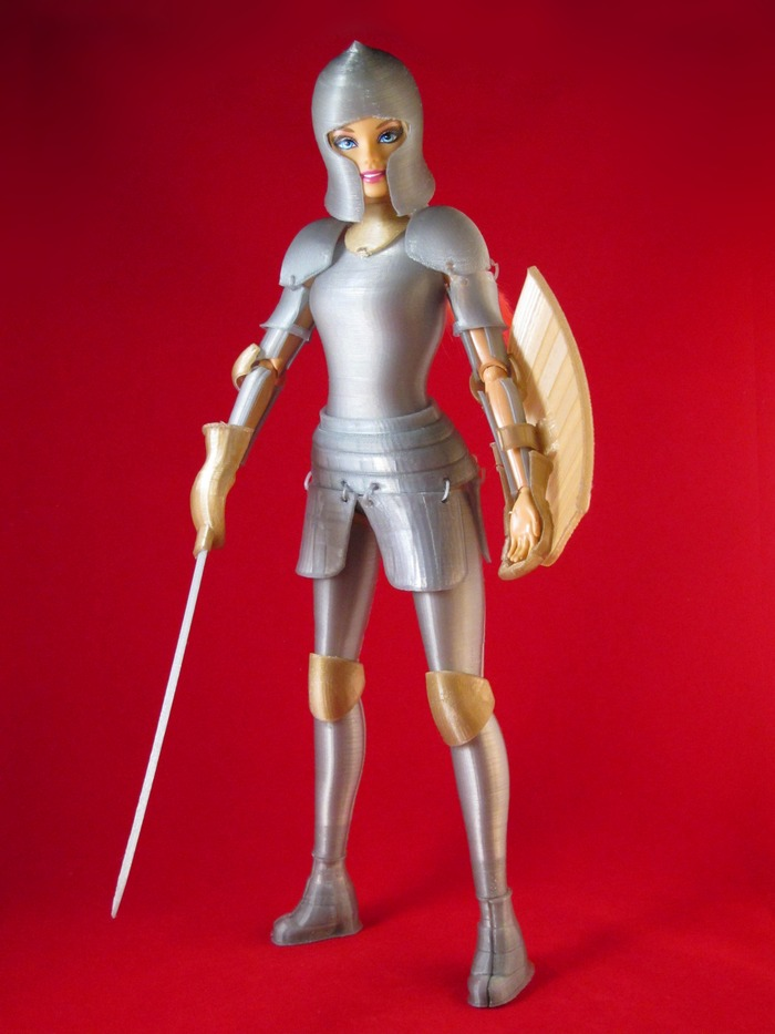 Faire Play: Barbie-Compatible 3D Printed Medieval Armor. Source: Jim Rodda