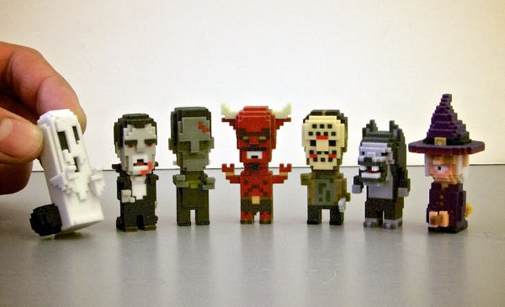 Classic pixelated 3D printables. Source: Leblox