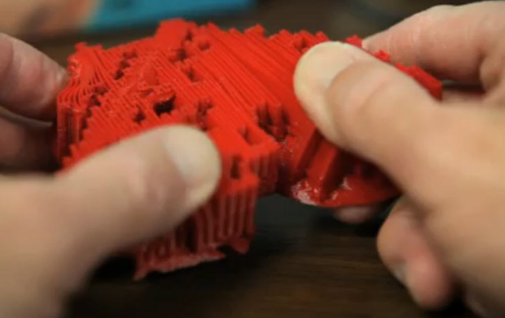 3D printed heart model. Source: http://www.3ders.org