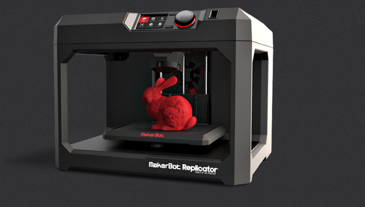 MakerBot 5th Generation Replicator 3D Printer. Source: http://www.makerbot.com/2014-consumer-electronics-show-ces/