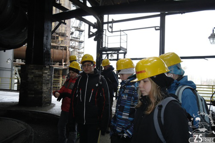 Students visiting the steel factory. Source: Elementary School of Dana and Emil Zátopek