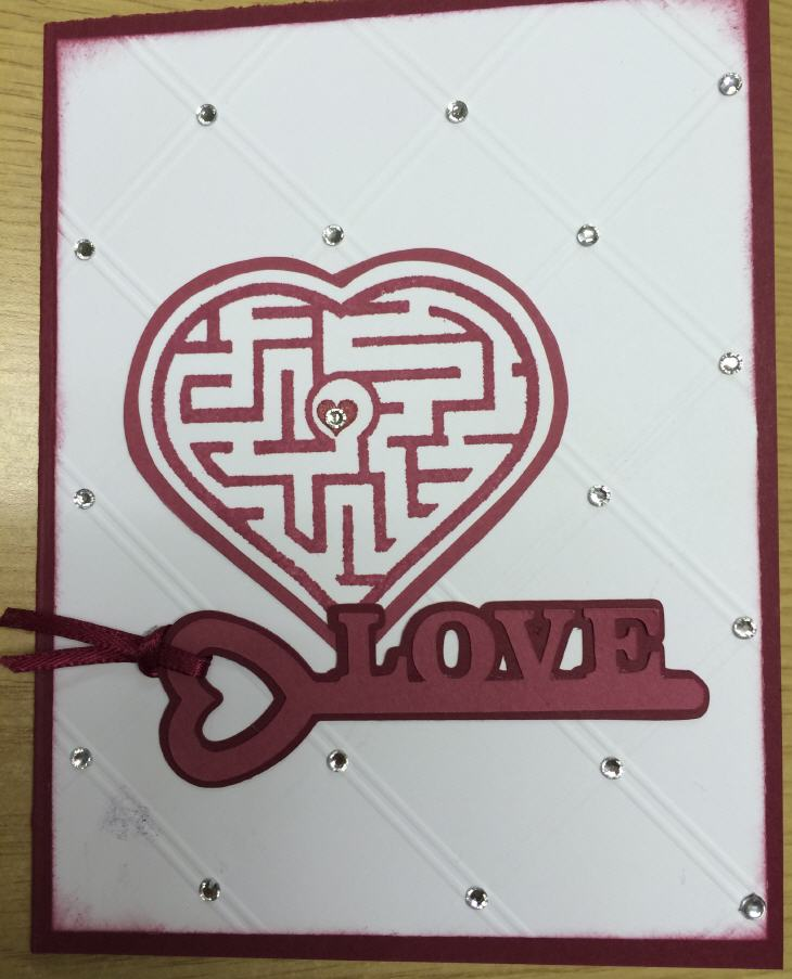 Card created with 3D-printed stamp. Source: WhiteClouds