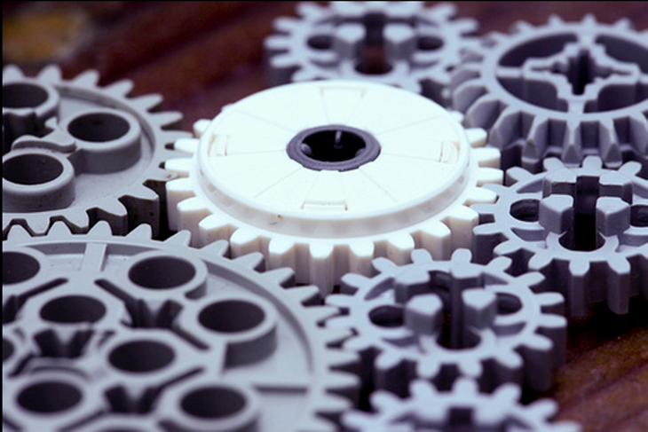 3D Printed Gears. Source: Sonny Abesamis on flickr.com
