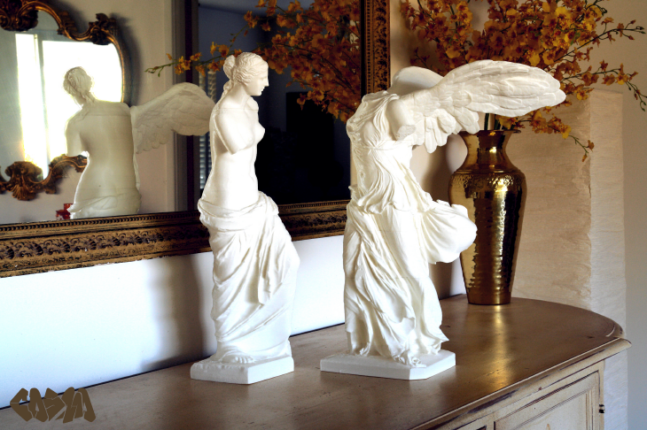 3D printed Venus de Milo and the Winged Victory of Samothrace. Source:http://cosmowenman.wordpress.com/