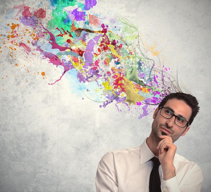 Businessman with creative ideas. Source: alphaspirit/Shutterstock.com
