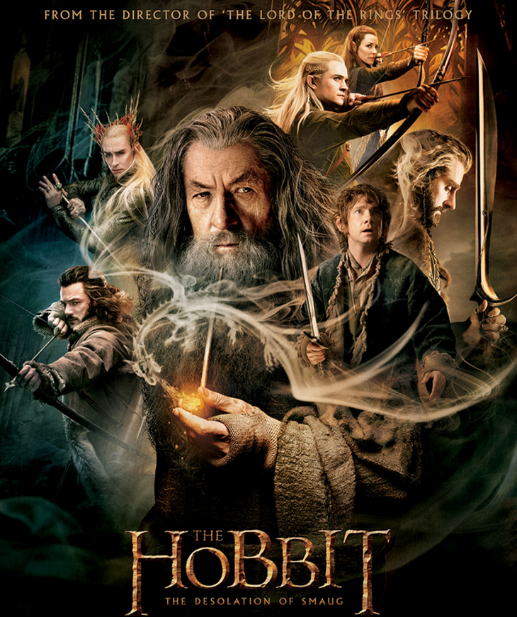 The Hobbit: The Desolation of Smaug Movie Poster. Source: Wingnut Films/http://www.thehobbitblog.com/