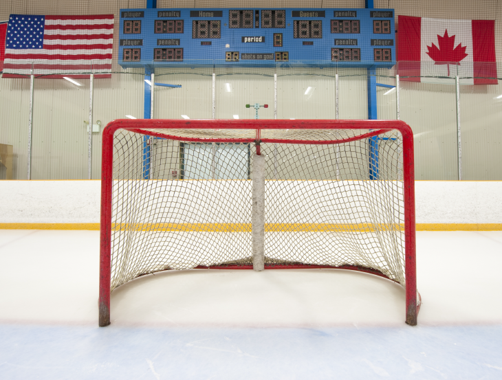 Hockey goal. Source: Michael Pettigrew/Shutterstock.com