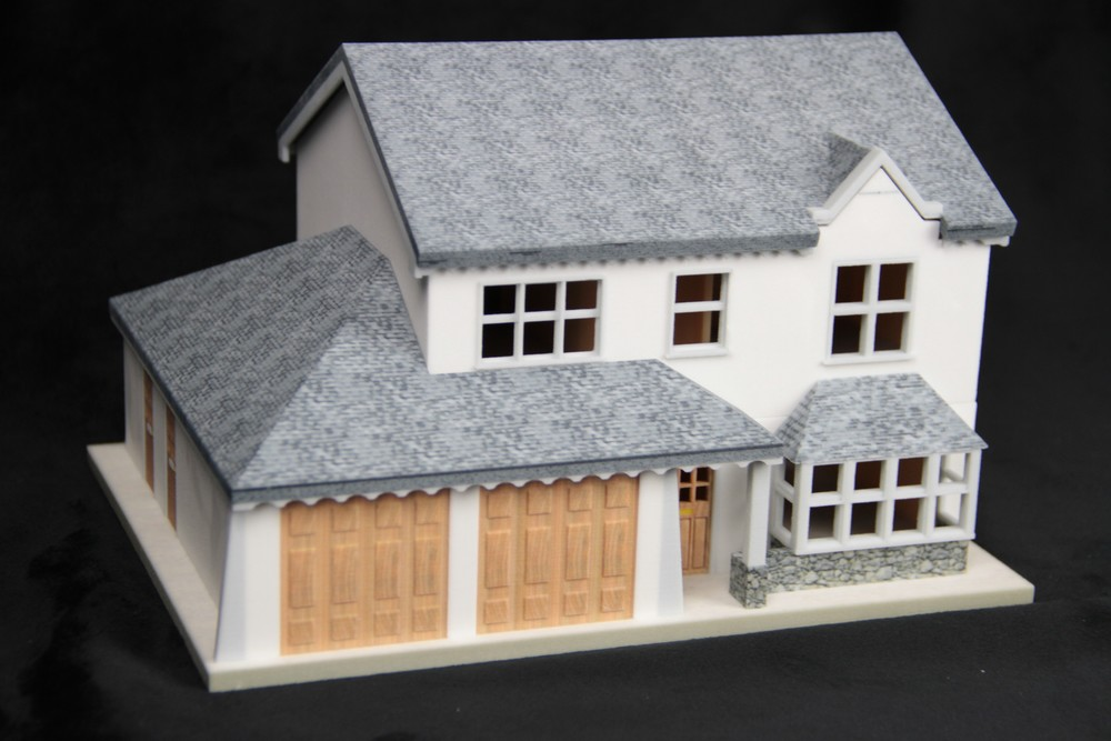 3D printed model home, exterior view. Source: WhiteClouds