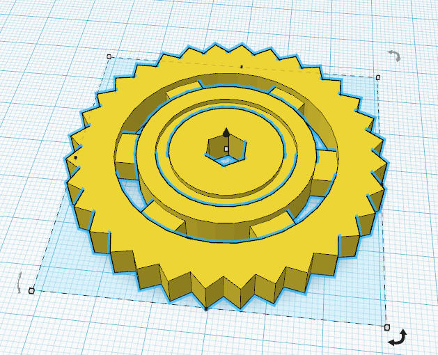 3D model of a steampunk gear. Source: Corey Strange/Tinkercad.com