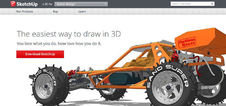 3D printing with Sketchup. Source: WhiteClouds