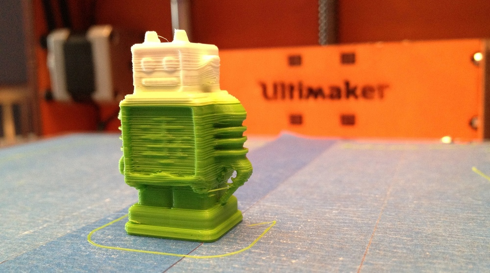 Ultimaker 3D printed robot. Source: jabella/Flickr.com