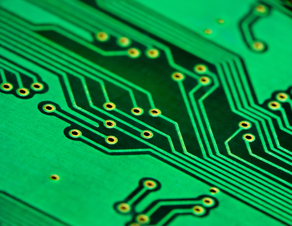 Close-up photo circuit plate. Source: Andrey Shchekalev/Shutterstock.com
