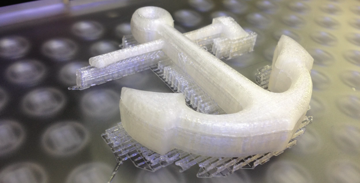 Makerbot Printing With Raft And Supports Whiteclouds