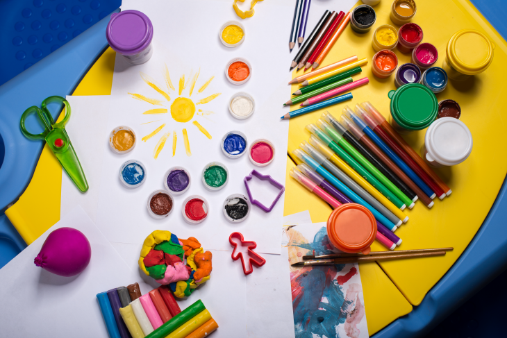 Art supplies. Source: Maksud/Shutterstock.com