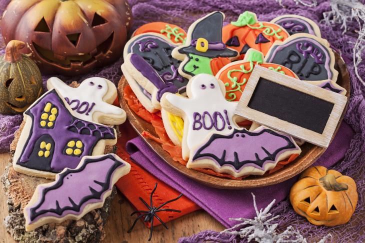 Halloween sugar cookies. Source: Elena Schweitzer/Shutterstock.com
