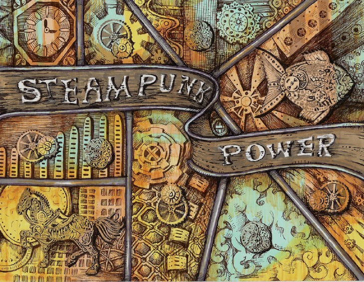 3D Printed Steampunk drawing. Source: Sandra Strait on flickr.com