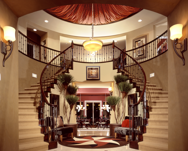 Beautiful entryway, double staircase. Source: ShortPhotos/Shutterstock.com