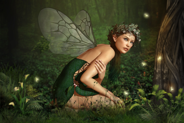 Green forest fairy. Source: Atelier Sommerland/Shutterstock.com