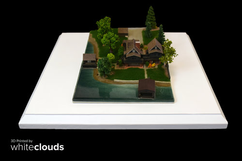 Architecture House Model architecture — whiteclouds 3d printing