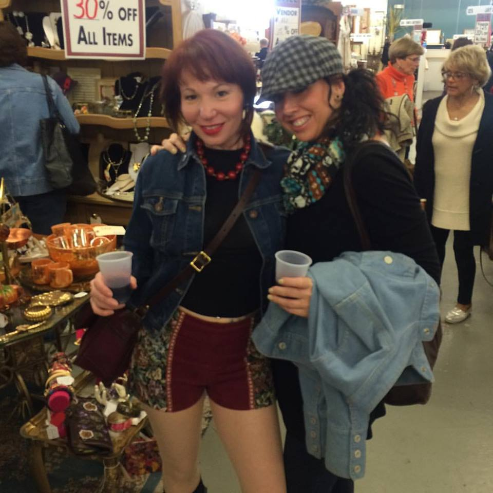 Peanut and Nicole enjoy some vintage shopping