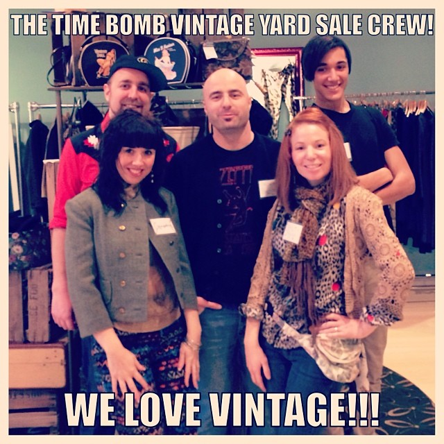 The Time Bomb crew were prepped for our vintage yard sale