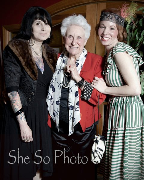 Miss Ruth, Euzine, and Peanut at the 1920s themed fashion show.