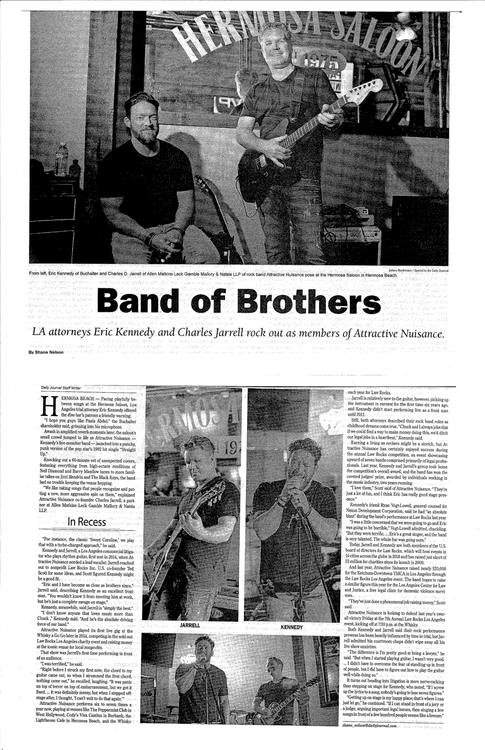 Band of Brothers - Daily Journal - March 16 2018