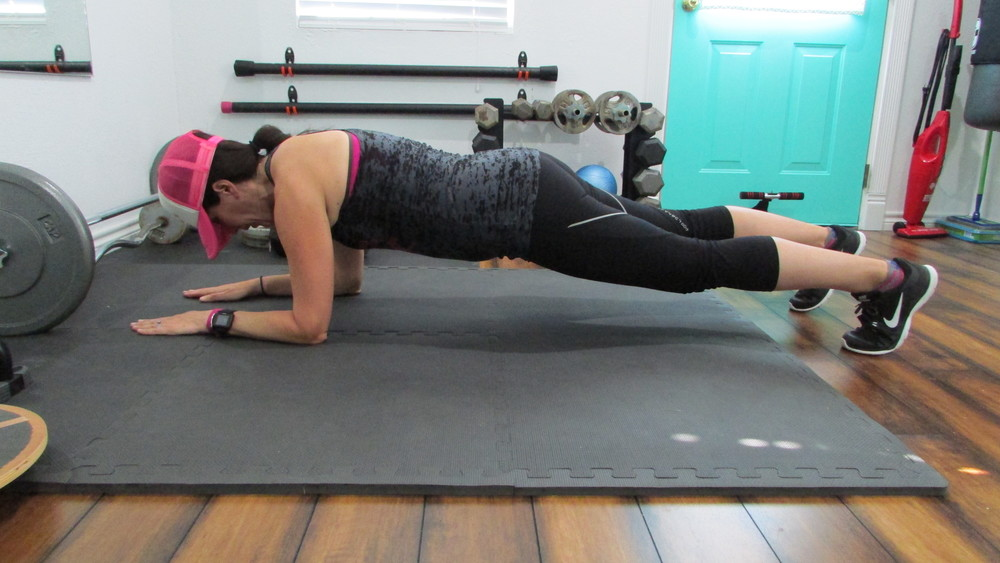 Start in the low plank position