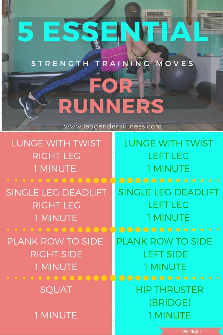 5 essential strength training moves for runners