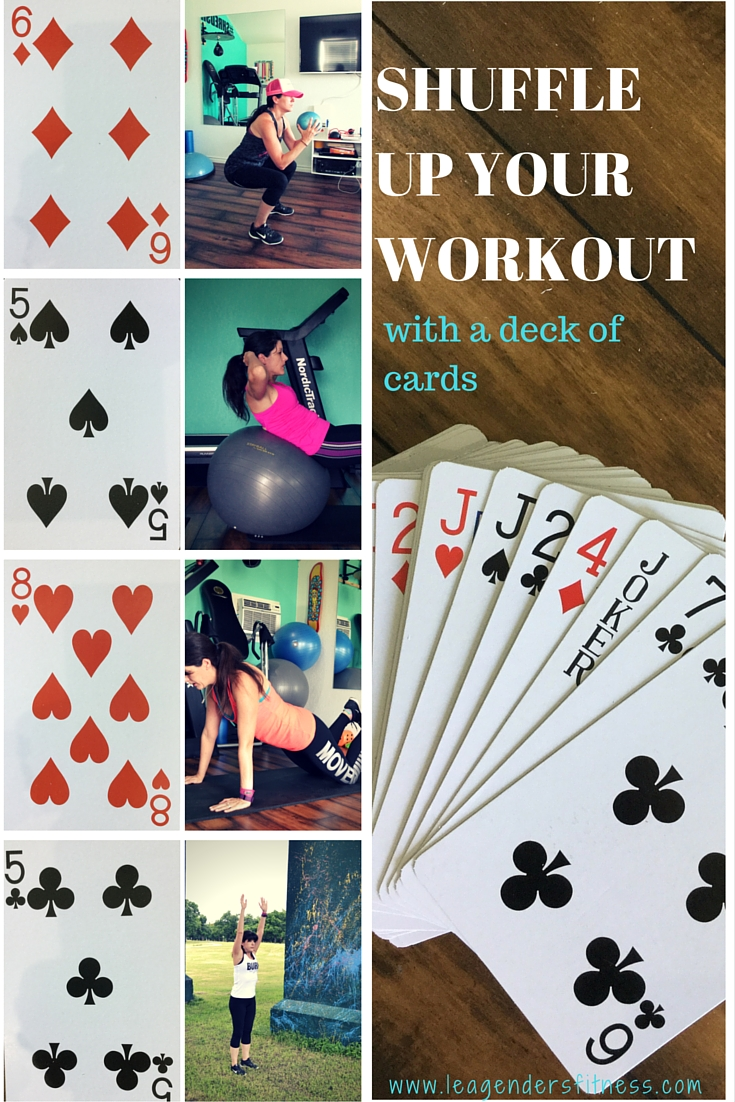 Shuffle up your workout with a deck of cards.