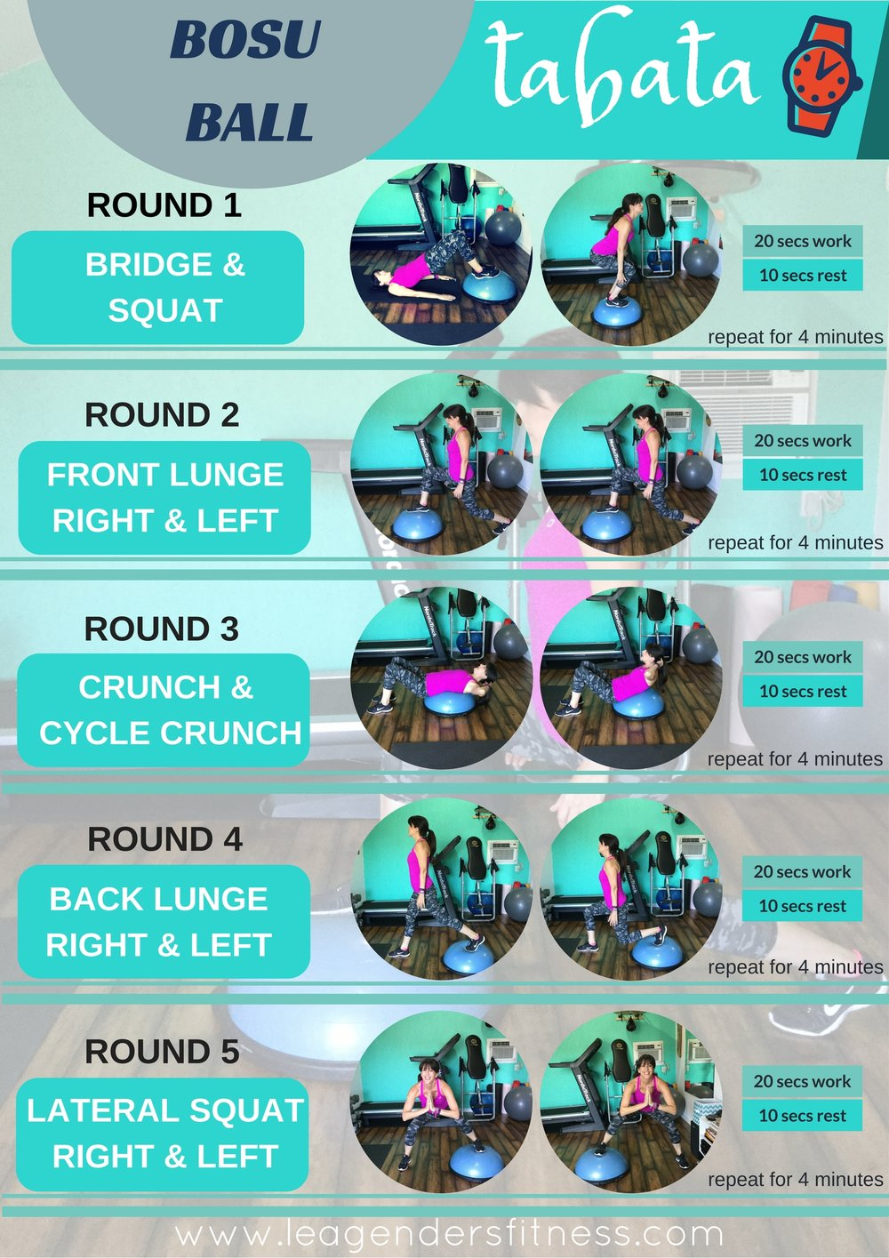 try this bosu ball lower body tabata workout  u2014 lea genders