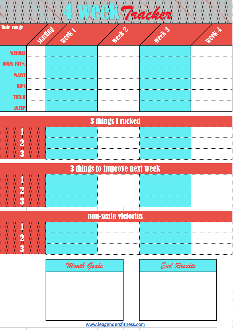 4 week tracker printable - Like this tracker? Save to your favorite Pinterest board.