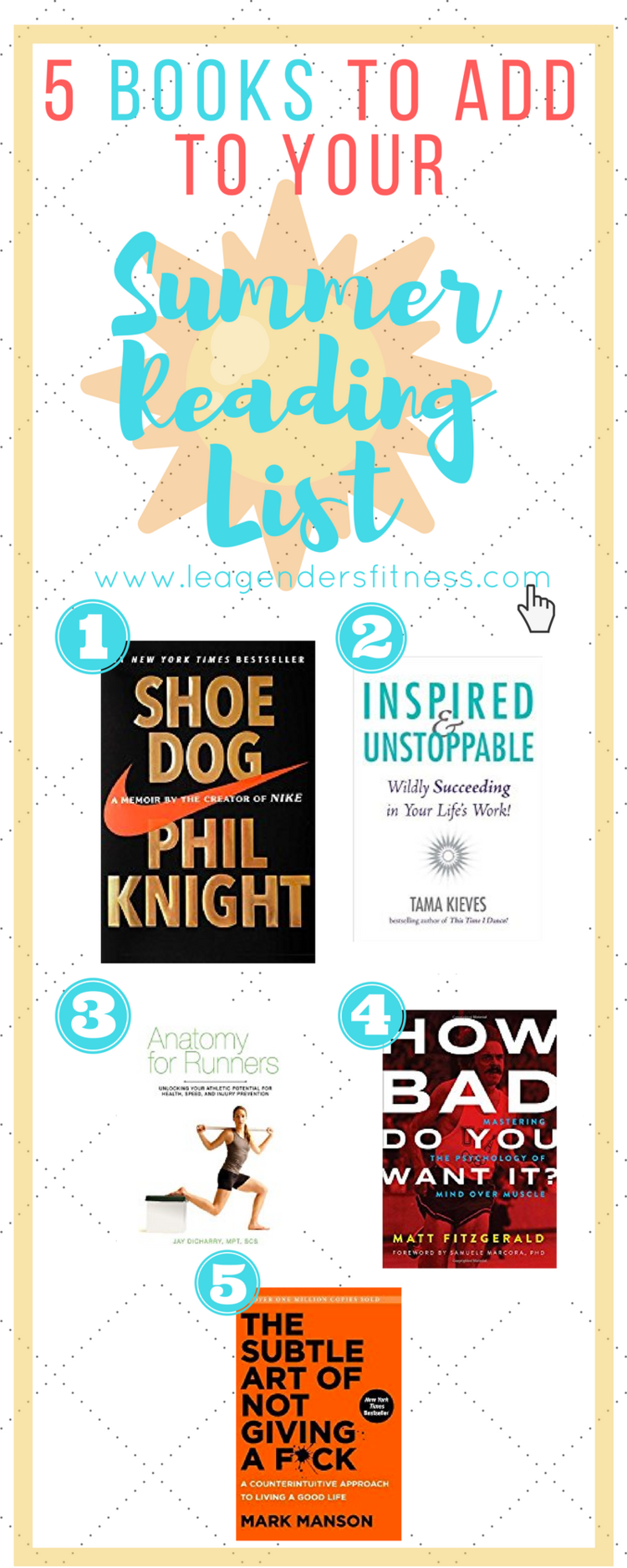 5 Books to Add to Your Summer Reading List — Lea Genders Fitness
