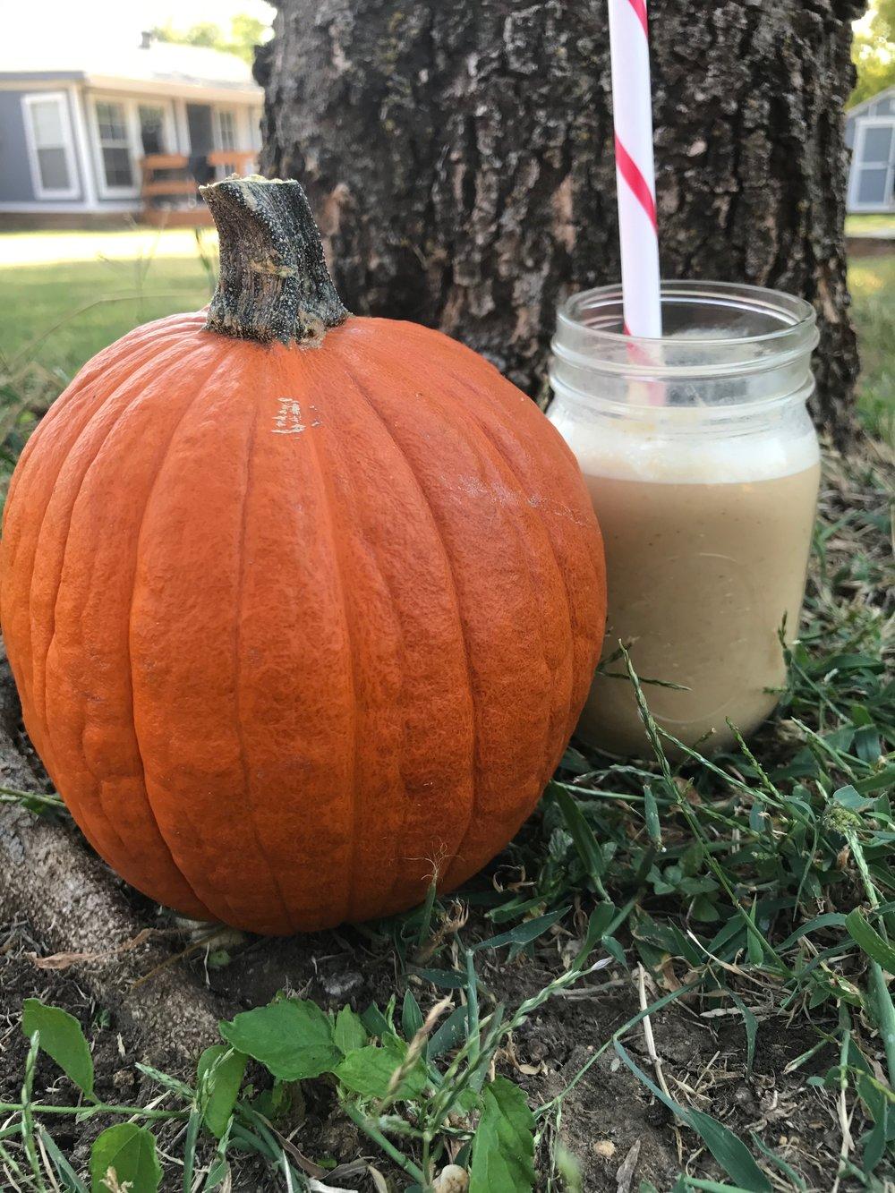 pumpkin spice protein shake.JPG