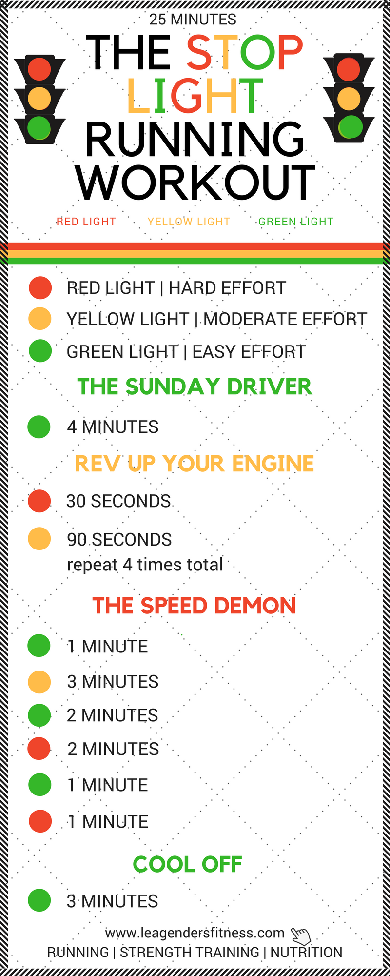 Download a printable PDF of the Stop Light Running Workout