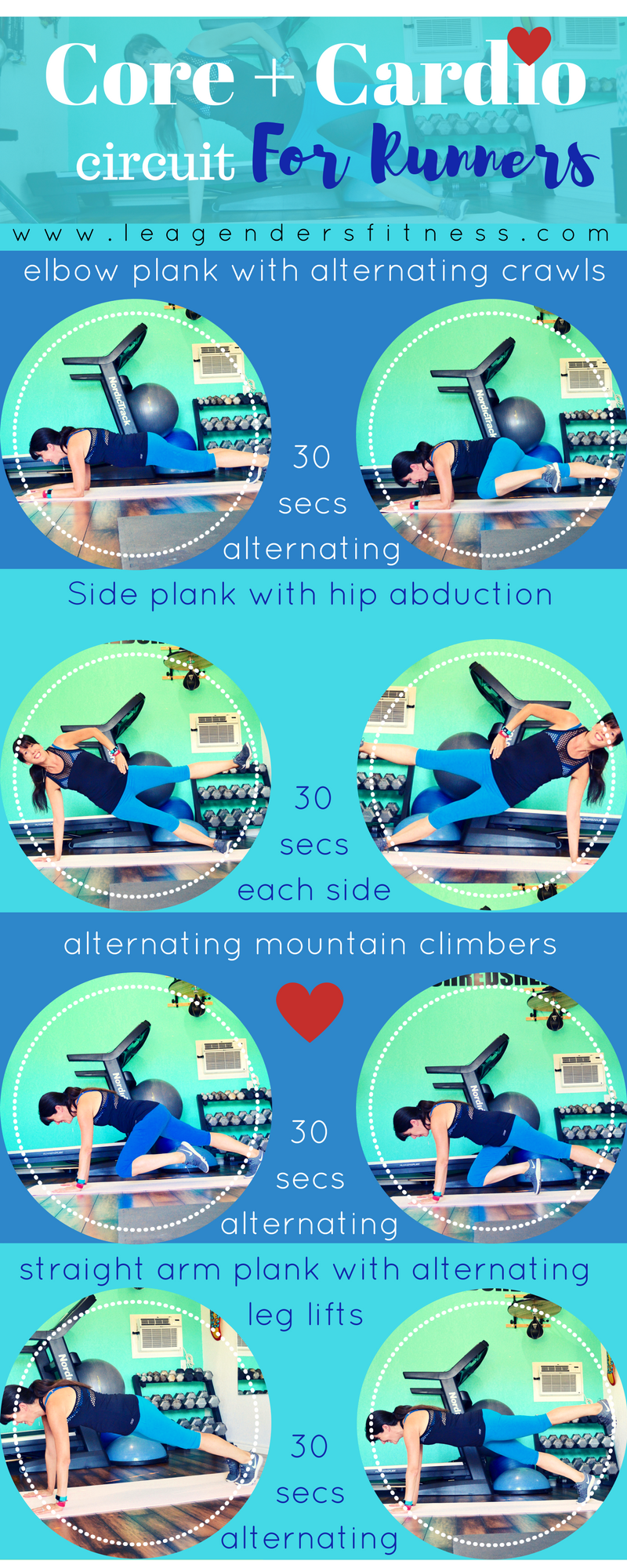 Core + Cardio circuit for runners