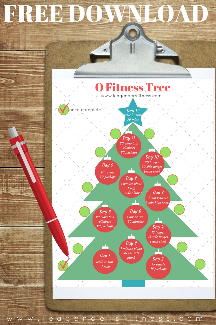 download a free printable PDF of the O Fitness tree workout tracker