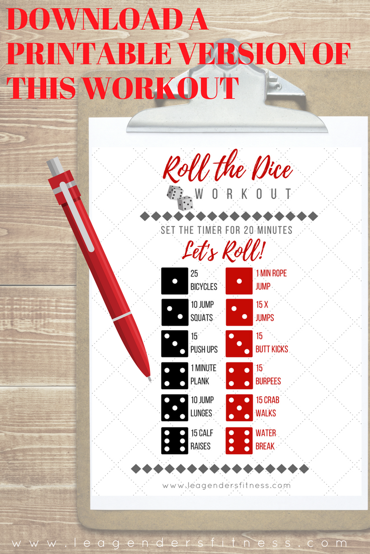 Download a printable version of this workout or save to Pinterest for later.