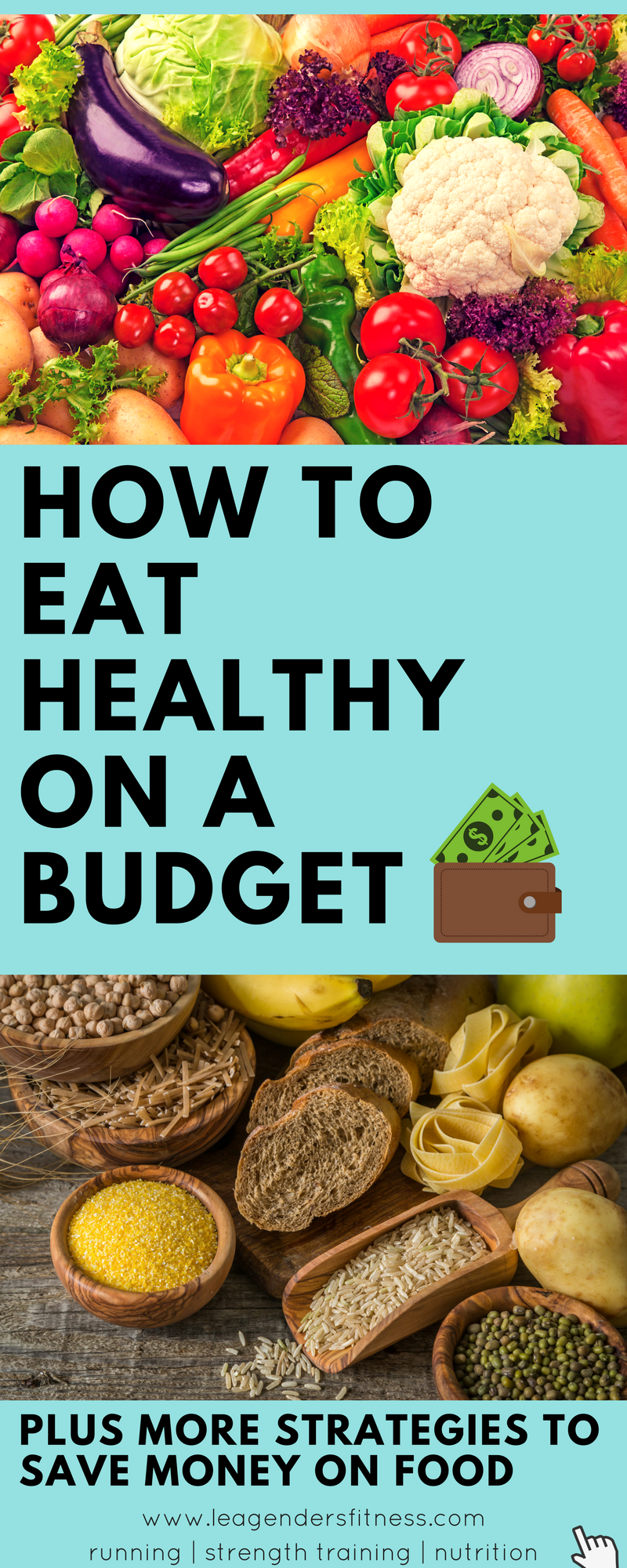 How to eat healthy on a budget - save to Pinterest for later.