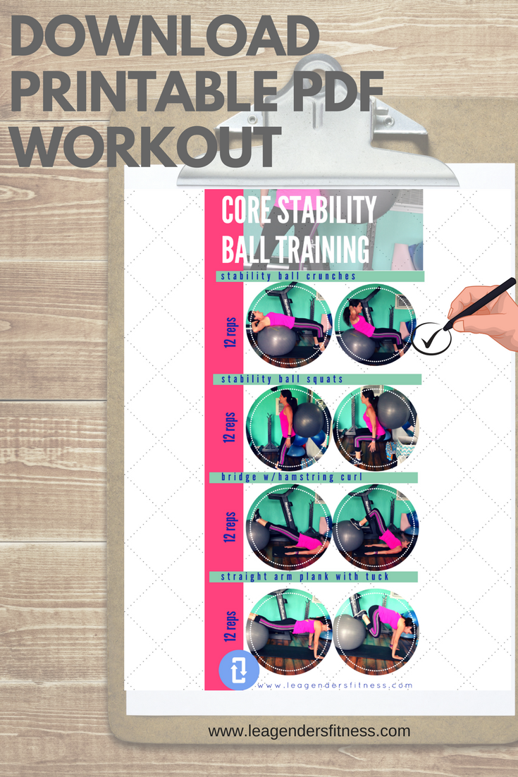 download a printable PDF core stability workout