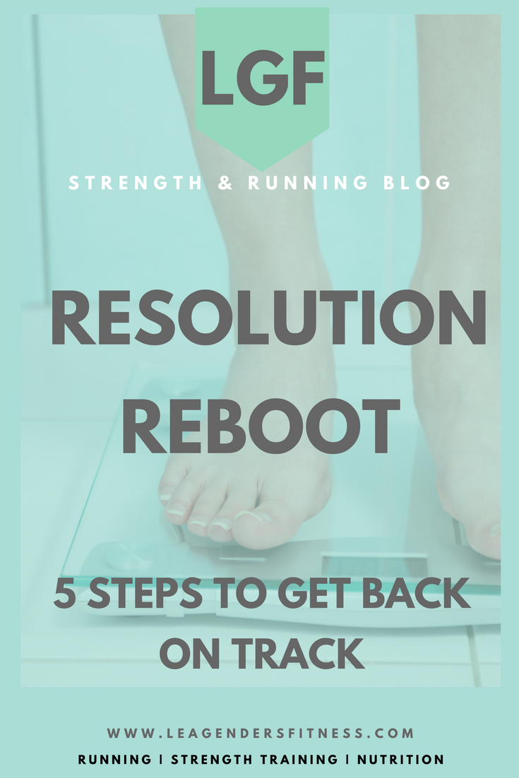 The Resolution Reboot: 5 steps to get back on track. Save to your favorite health and fitness Pinterest board for later.