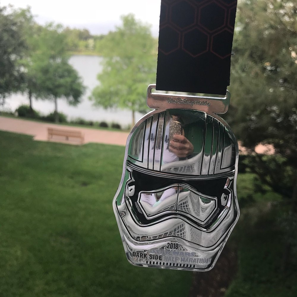 darkside half marathon 2018 race medal