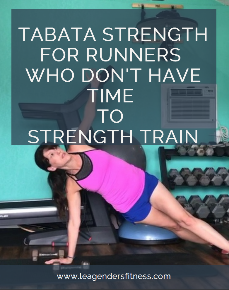 Tabata-style strength training for runners who don't have time to strength train.