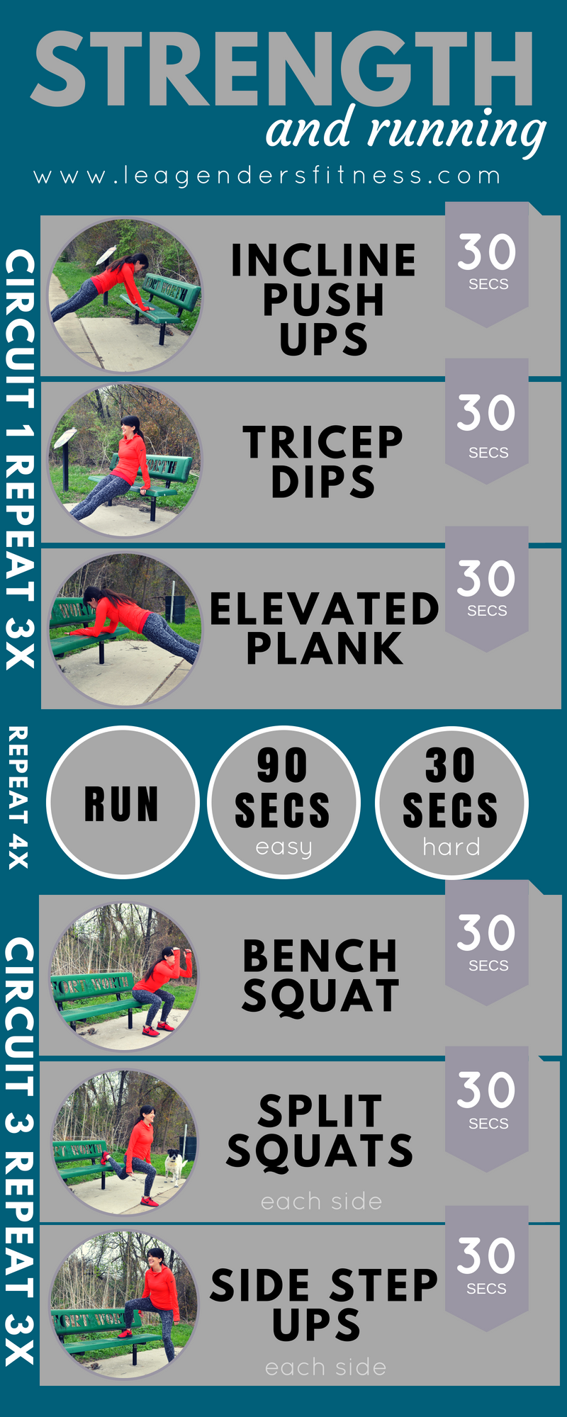 strength and running intervals to improve speed. save to your favorite Pinterest board for later.
