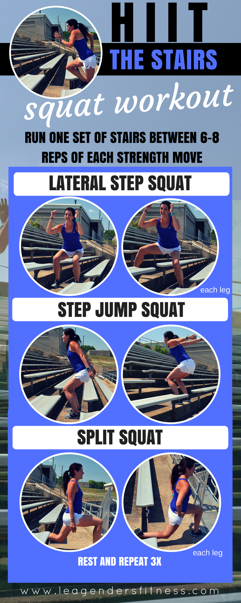 HIIT THE STAIRS SQUAT WORKOUT. SAVE TO YOUR FAVORITE PINTEREST BOARD FOR LATER