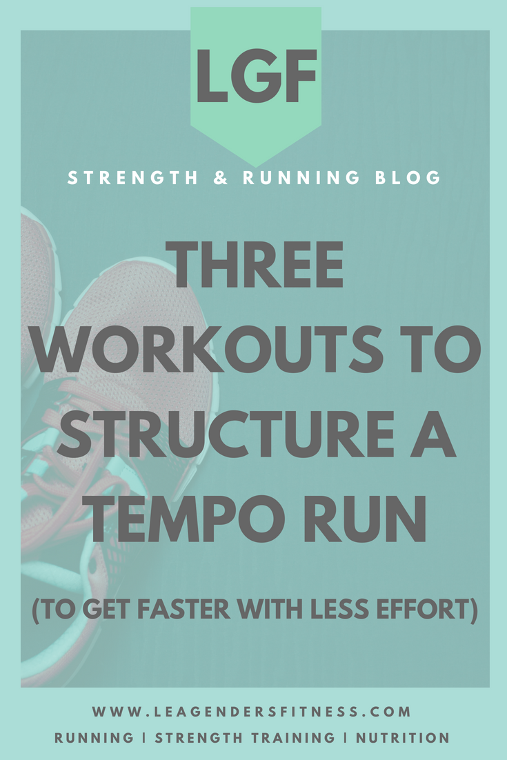 Three workouts to structure a tempo run (to get faster with less effort). Save to your favorite Pinterest workout board for later.