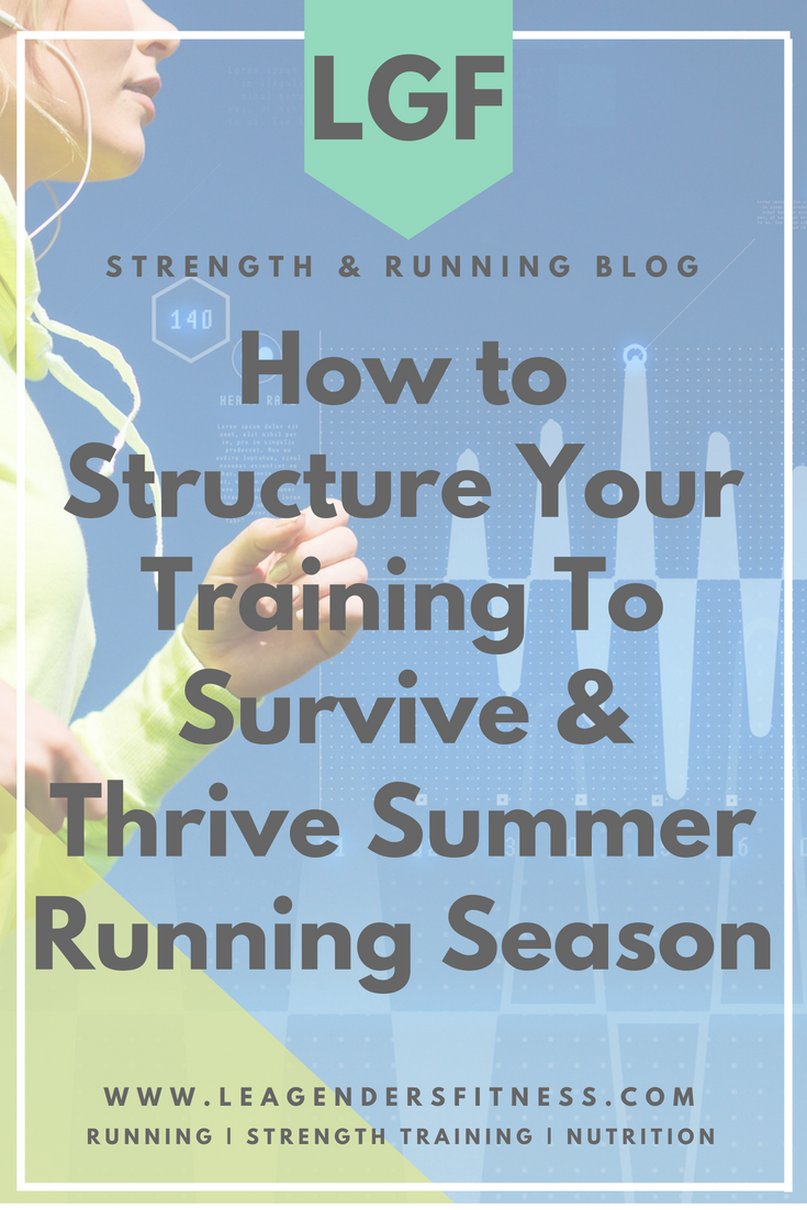 How to structure your training to survive and thrive in the summer running season. Save to your favorite Pinterest board for later.